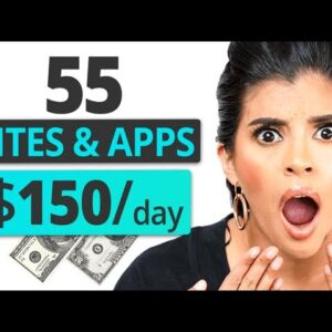 55 Websites & Apps To Make $50-300/day For Free Part 1 | Marissa Romero