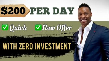 Quickest Way To Make $200 Per Day With This NEW OFFER With $0 | Make Money Online 2021